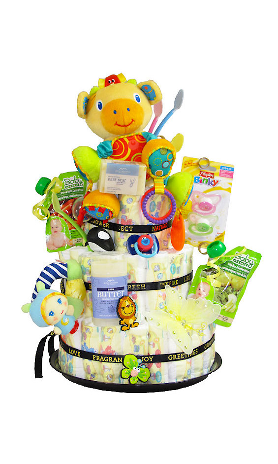 Baby Gift Baskets Thunder Bay : Grower direct premium gift baskets new born diaper cake